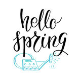 Spring lettering card Stock Photography