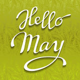Spring lettering card. Stock Photography