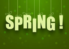 Spring lettering, vector  Stock Photography