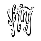 Spring lettering Stock Image