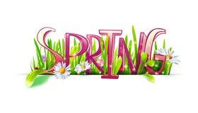 Spring lettering stock illustration