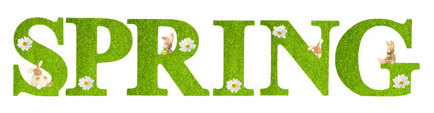 Spring Letters Stock Images