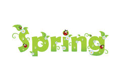 Spring letters Stock Photography