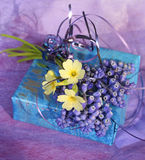 Spring lilac gift Royalty Free Stock Images