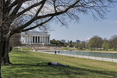Spring at the Lincoln Memorial in Washington, DC Royalty Free Stock Photo