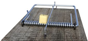 Mousetrap shallow focus close-up Royalty Free Stock Photography