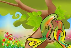 Spring love of birds Royalty Free Stock Images