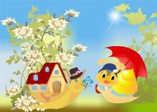 Spring love in the garden Stock Photo