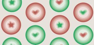 Spring love geometric polka dots pattern royalty free illustration