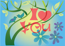 Spring love tree Stock Images