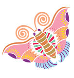 Spring Loves Butterly. A decorative butterfly with lots of decoration inside of the shape Royalty Free Stock Photo