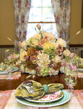 Spring Luncheon Table Setting Stock Image