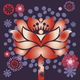 Spring  magic flower poster Stock Photo