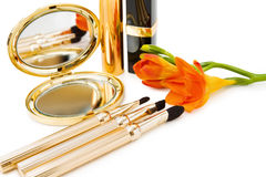 Spring makeups in golden Stock Photography