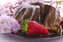Spring marble cakes Royalty Free Stock Photography