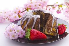 Spring marble cakes Royalty Free Stock Images