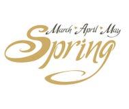Spring. March, April, May. Stock Photos