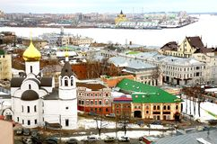 Spring march view oldest part Nizhny Novgorod Stock Image