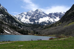 Spring at Maroon Lake Stock Image