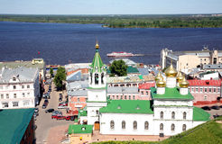 Spring may view Nizhny Novgorod Stock Photography