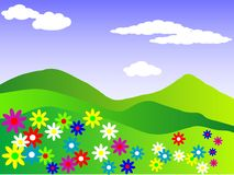 Spring meadow, (vector file included) Royalty Free Stock Photos