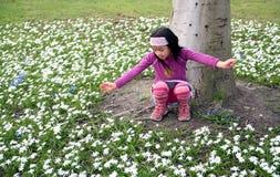 Spring meisje op Royalty-vrije Stock Foto