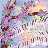 Spring Melody card Royalty Free Stock Photo