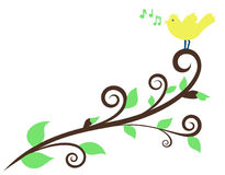 Spring melody stock illustration