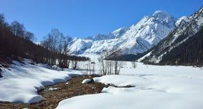 Spring,melt snow Stock Image