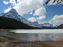 Spring Melt at Waterfowl Lakes, Banff National Park, Alberta stock images