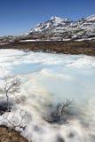 Spring Melt in the Yukon Stock Photo