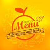 Spring menu label design Stock Photos