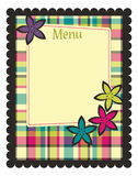 Spring menu template Royalty Free Stock Photo