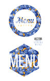 Spring menu in watercolor Royalty Free Stock Photo