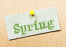 Spring Message Stock Photography