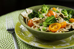 Spring Mix Pasta Salad Stock Photo