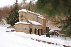 The spring in Monastery of St. Nino at Bodbe in winter Stock Photo
