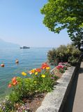 Spring in Montreux Stock Photography