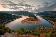 Spring morning along the Arda river, Rhodope Mountains, Bulgaria Royalty Free Stock Photos