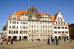 Spring morning in the city. Leipzig, Germany royalty free stock images