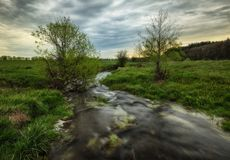 Morning. dawn near a picturesque river Royalty Free Stock Photography