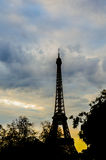 Spring morning with Eiffel Tower, Paris, France. During the evening Royalty Free Stock Photos
