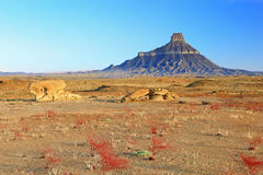 Spring morning at Factory Butte. Royalty Free Stock Photos