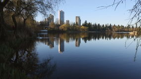 Spring Morning, Lost Lagoon, Stanley Park Vancouver stock video