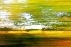 Spring motion blur from the train Stock Images