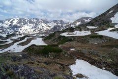 Spring at mountain. Bucura glacial cirques on springtime Stock Images