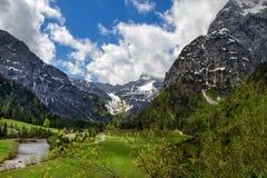 Spring Mountain Alpine Landscape Stock Photos