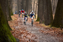 Spring mountain bike competition Stock Images