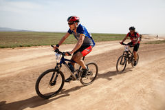 Spring mountain bike marathon Royalty Free Stock Photo