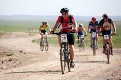 Spring mountain bike marathon Royalty Free Stock Photography